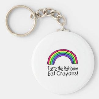 虹を食べますクレヨンを味わって下さい キーホルダー