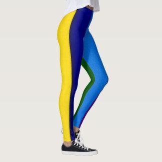 虹カラフルなパターンレギンス レギンス