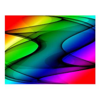 虹スペクトルの抽象芸術 ポストカード