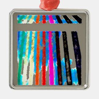 虹スペクトル色バンド滝 メタルオーナメント