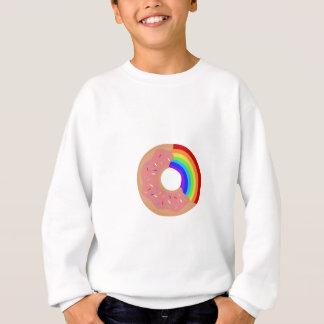 虹ドーナツを味わって下さい スウェットシャツ