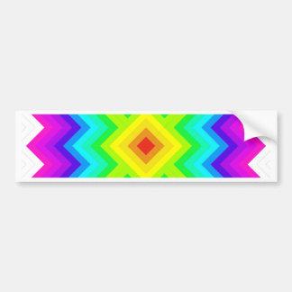 虹パターンおばあさんの正方形のスタイル バンパーステッカー