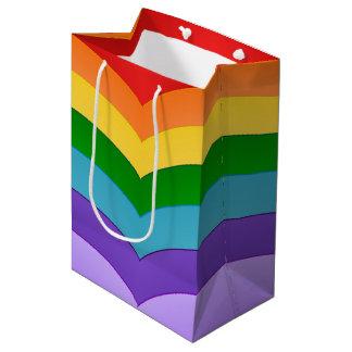 虹パターン ミディアムペーパーバッグ