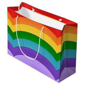虹パターン ラージペーパーバッグ