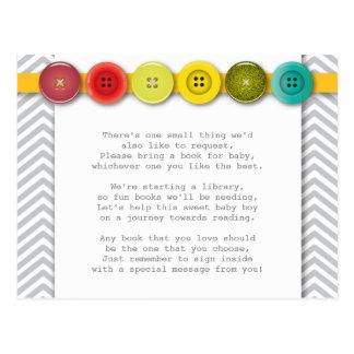 虹ボタンの挿入物カード ポストカード