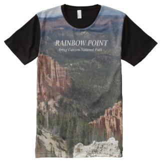 虹ポイント-ブライス渓谷の国立公園のティーShi オールオーバープリントT シャツ