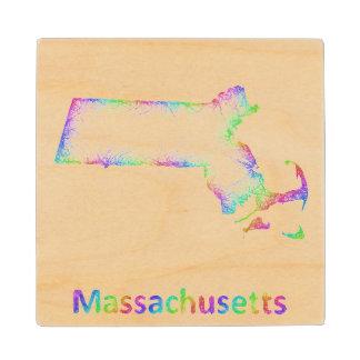 虹マサチューセッツ地図 ウッドコースター