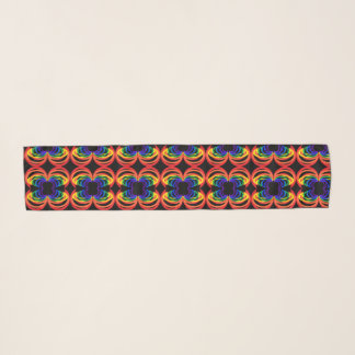 虹三日月形の螺線形パターンシフォンのスカーフ スカーフ