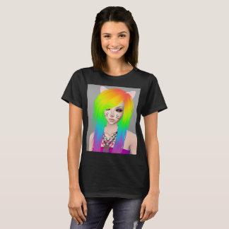 虹場面女王の女性のTシャツ Tシャツ