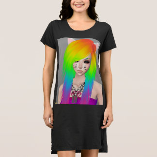 虹場面女王のTシャツの服 ドレス