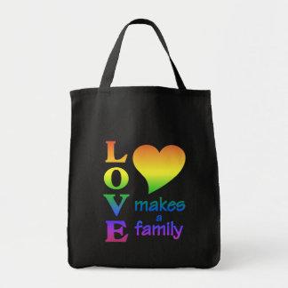 虹家族のバッグ-スタイル及び色を選んで下さい トートバッグ