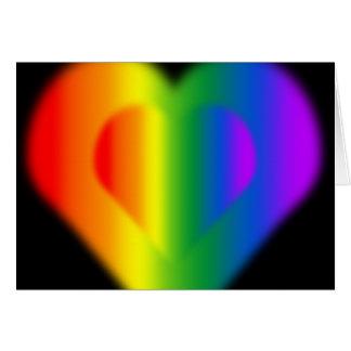 虹愛はゲイプライド名前入りなカードを梳きます カード