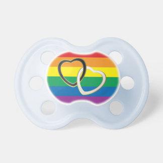 虹愛、ハート、LGBT家族、虹のベビー おしゃぶり