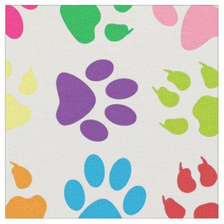 虹犬の足パターン ファブリック
