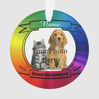 虹犬、猫またはペット完全な記憶 オーナメント