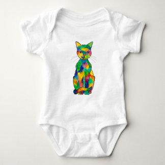虹猫のベビーのボディスーツ ベビーボディスーツ