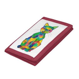 虹猫の財布 ナイロン三つ折りウォレット