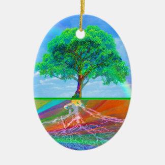 虹生命の樹 セラミックオーナメント