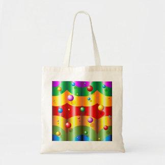 虹色およびプラスチック・バッグ トートバッグ