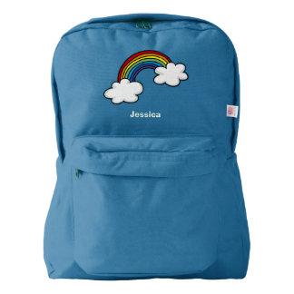 虹色そして白い雲 AMERICAN APPAREL™バックパック
