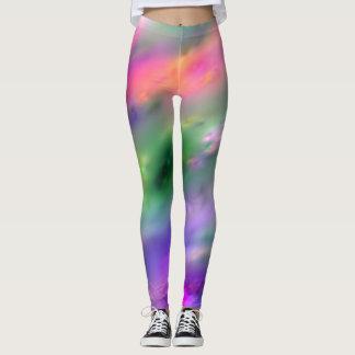 虹色のしぶきのレギンス レギンス
