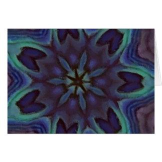 虹色のアワビの貝の万華鏡のように千変万化するパターン カード