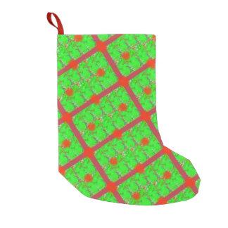 虹色のクリスマスのストッキング スモールクリスマスストッキング