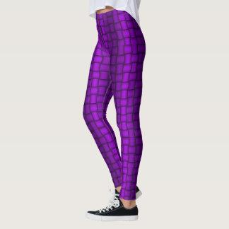 虹色のブロック(紫色) レギンス