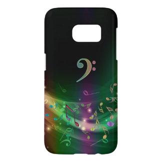 虹色のヘ音記号音楽はSamsung S7の例に注意します Samsung Galaxy S7 ケース