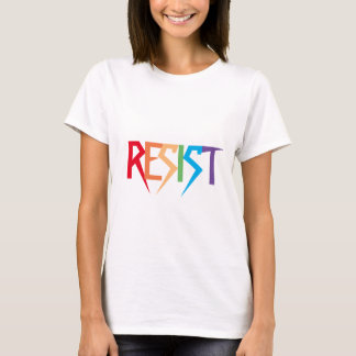 虹色の分割不可能なワイシャツで抵抗して下さい Tシャツ