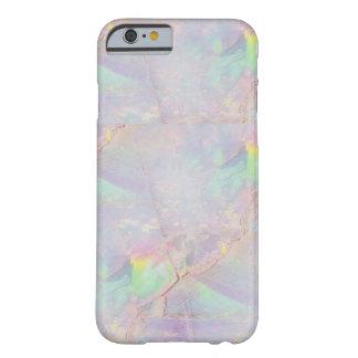 虹色の大理石の人魚の石のiPhoneの場合 Barely There iPhone 6 ケース