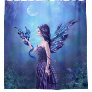 虹色の妖精及びドラゴンの芸術のシャワー・カーテン シャワーカーテン