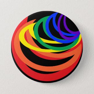 虹色の抽象芸術の三日月ボタン 缶バッジ