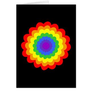 虹色の明るく多彩な花 カード