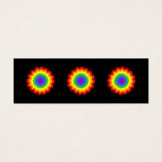 虹色の明るく多彩な花 スキニー名刺