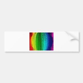 虹色の球 バンパーステッカー