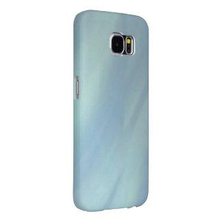 虹色の青い金属波 SAMSUNG GALAXY S6 ケース
