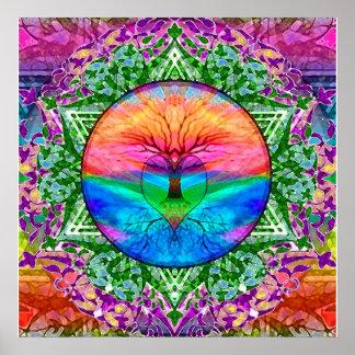 虹色の静まる生命の樹 ポスター