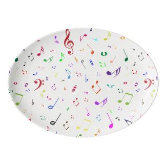 虹色の音楽的な記号 磁器大皿