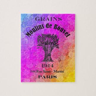 虹色及びフランスのな穀物袋広告のデイジー ジグソーパズル