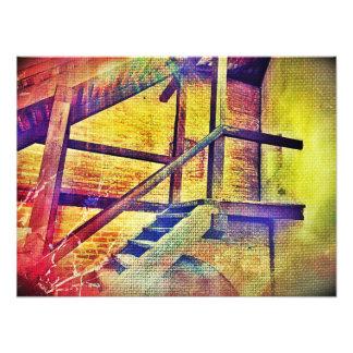 虹色階段 フォトプリント