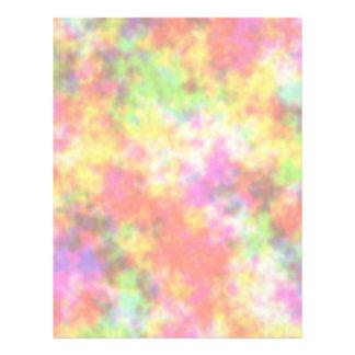 虹色。 かわいらしく、カラフルな雲 レターヘッド