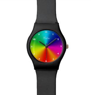 虹色 腕時計