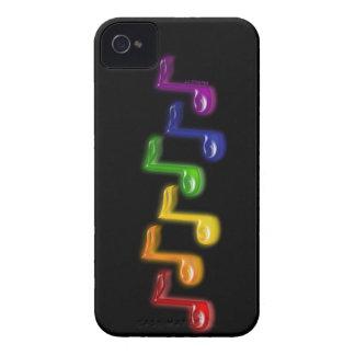 虹音楽はブラックベリーのはっきりしたな箱に注意します Case-Mate iPhone 4 ケース