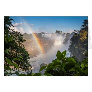 虹、アルゼンチンが付いているIguazúの滝 カード