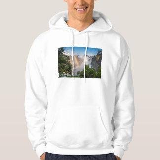 虹、アルゼンチンが付いているIguazúの滝 パーカ