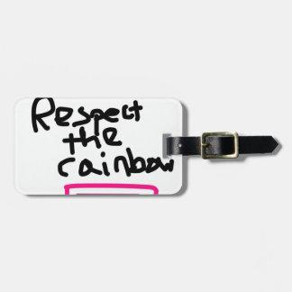虹-結婚の平等--を尊重して下さい ラゲッジタグ