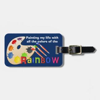 虹-荷物のラベルの色 ラゲッジタグ