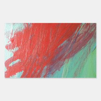虹 長方形シール