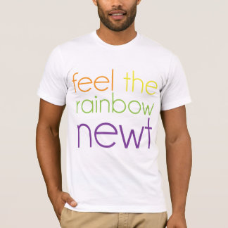 虹、Newtを感じて下さい Tシャツ